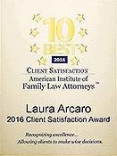 2016 Client Satisfaction Award