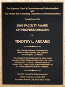 2007 Faculty Award on Professionalism